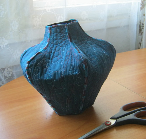 Вазы из текстиля своими руками
